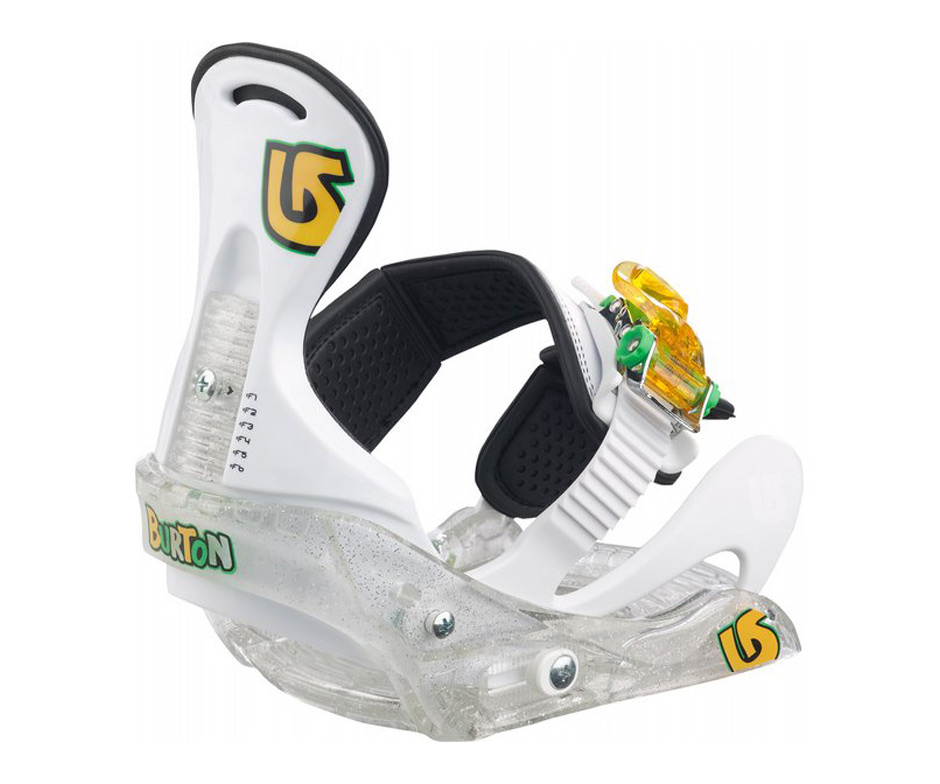 Image: Burton Grom Youth Snowboard Bindings Clear
